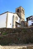 Kerk in het oude dorp van Candelario in Spanje 24 september 2017 Spanje Royalty-vrije Stock Foto