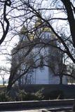 Kerk in het park stock afbeeldingen