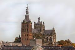 Kerk in hol bosch in Nederland Stock Afbeelding