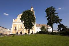Kerk in Hrodna Stock Afbeelding
