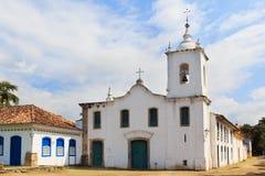 Kerk Igreja DE Nossa Senhora das Dores in Paraty, Brazilië Royalty-vrije Stock Foto's