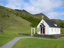 Kerk in IJsland stock foto