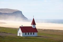 Kerk in IJsland Stock Foto's