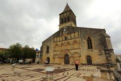 Kerk in Jonzac, Frankrijk Royalty-vrije Stock Afbeeldingen