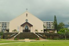 Kerk in Kona stock afbeelding