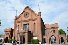 Kerk in Kornik-stad nabijgelegen Poznan in Polen Royalty-vrije Stock Afbeeldingen