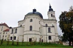 Kerk Krtiny, Tsjechische Republiek, Europa Royalty-vrije Stock Afbeeldingen