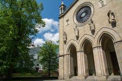 Kerk in Krzeszowice Stock Foto's