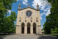 Kerk in Krzeszowice (Polen) stock foto