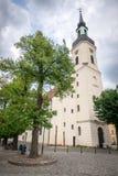 Kerk in LÃ ¼ bbenau, Duitsland royalty-vrije stock foto