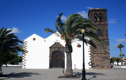Kerk in La Oliva, Fuerteventura royalty-vrije stock foto