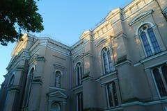 Kerk in Litouwse stad Stock Foto