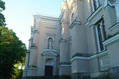 Kerk in Litouwse stad Stock Fotografie
