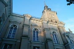 Kerk in Litouwse stad Stock Afbeeldingen