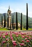 Kerk in Lugano, Zwitserland Royalty-vrije Stock Afbeeldingen