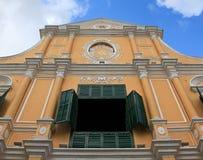 Kerk in Macao stock foto's