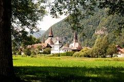 Kerk in Matten, Zwitserland Stock Afbeelding