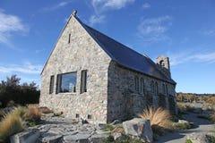 Kerk - Meer Tekapo Nieuw Zeeland Stock Foto's