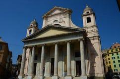 Kerk met Colonnade in Genua - Genoa Landmarks stock foto's