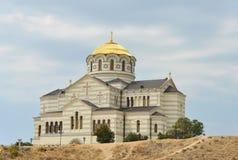 Kerk met een gouden koepel Stock Fotografie