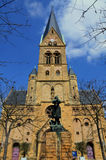 Kerk in Metz stock foto