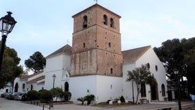 Kerk Mijas dorp-MÃ ¡ laga-Andalusia-Spanje-Europa stock afbeelding