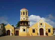 Kerk in Mompos, Colombia Stock Foto