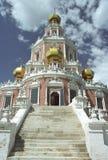 Kerk in Moskou, Rusland Stock Afbeeldingen