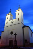 Kerk in nacht Stock Foto