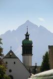 Kerk neer aan de berg, Innsbruck Royalty-vrije Stock Afbeeldingen