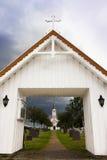 Kerk in Noorwegen Stock Foto