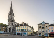 Kerk Notre Dame van Oloron Sainte Marie - Frankrijk Stock Foto's