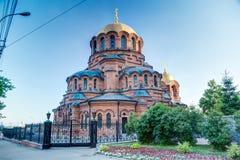 Kerk in Novosibirsk, Rusland royalty-vrije stock afbeelding