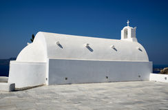 Kerk in Oia op Santorini Royalty-vrije Stock Foto