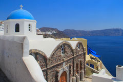 Kerk in Oia santorini Griekenland Royalty-vrije Stock Afbeelding