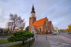 Kerk in Olesnica, Polen Royalty-vrije Stock Foto