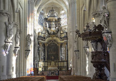 Kerk onze-Lieve-Vrouw-over--DE-Dijlekerk Stock Afbeelding
