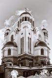 Kerk op Bloed ter ere van Alle Heiligen Schitterend in Rusland Royalty-vrije Stock Afbeelding
