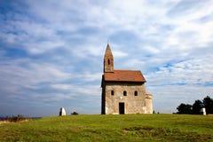 Kerk op de heuvel Royalty-vrije Stock Fotografie