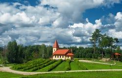 Kerk op de heuvel. Royalty-vrije Stock Afbeelding