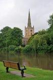 Kerk op de rivier avon Royalty-vrije Stock Afbeelding