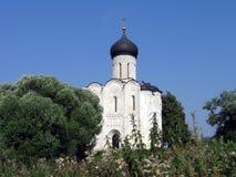 Kerk op de rivier Nerli Royalty-vrije Stock Afbeelding