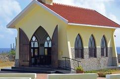 Kerk op een woestijneiland Royalty-vrije Stock Afbeelding