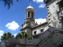 Kerk op eiland stock foto's