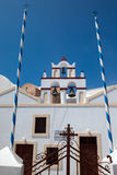 Kerk op eiland Santorini 1 Royalty-vrije Stock Foto's