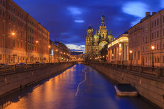 Kerk op Gemorst Bloed in Heilige Petersburg, Stock Afbeeldingen