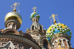 Kerk op Gemorst Bloed Rusland stock fotografie