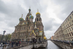 Kerk op Gemorst Bloed, St Petersburg Royalty-vrije Stock Foto's