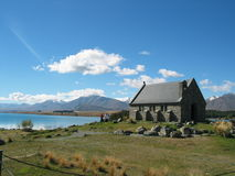 Kerk op het meer Royalty-vrije Stock Foto