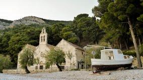 Kerk op het strand Stock Afbeelding